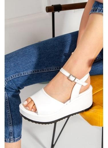 Derithy Sloan Sandalet-Ten-Tnr0300 Beyaz
